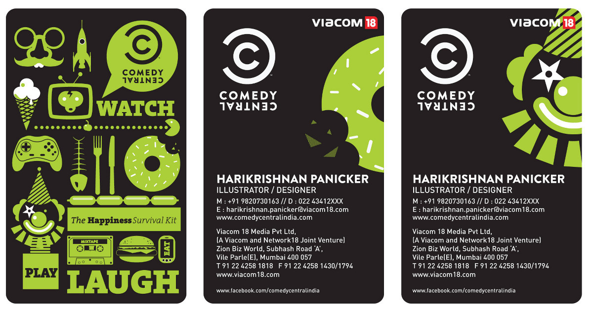Comedy Central Business Cards - www.thumbdemon.com