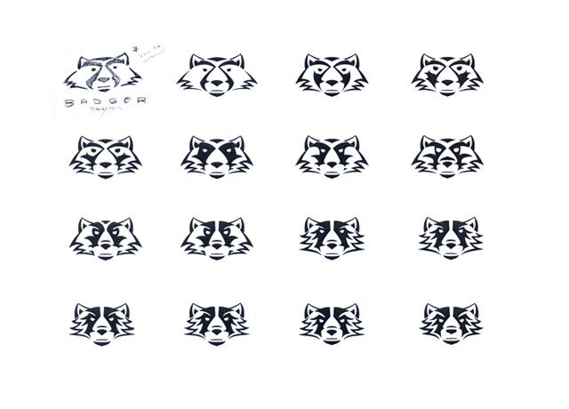 Character Development Design Process : Badger moto leathers logo development mykol