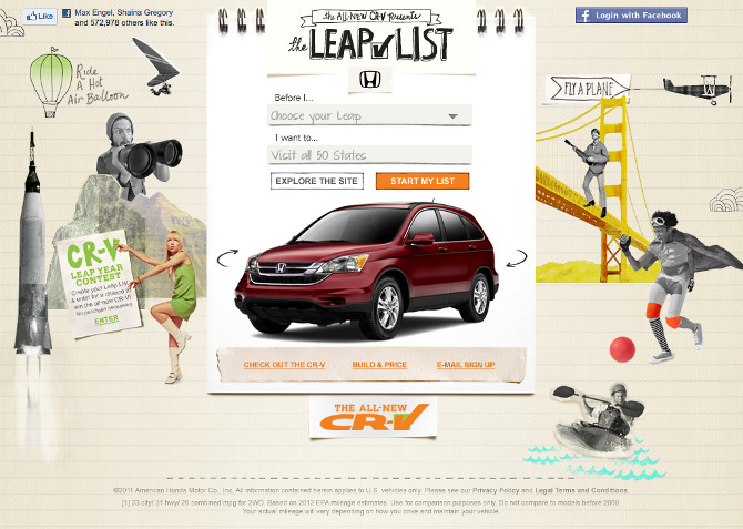 Honda CR V Leap List Campaign