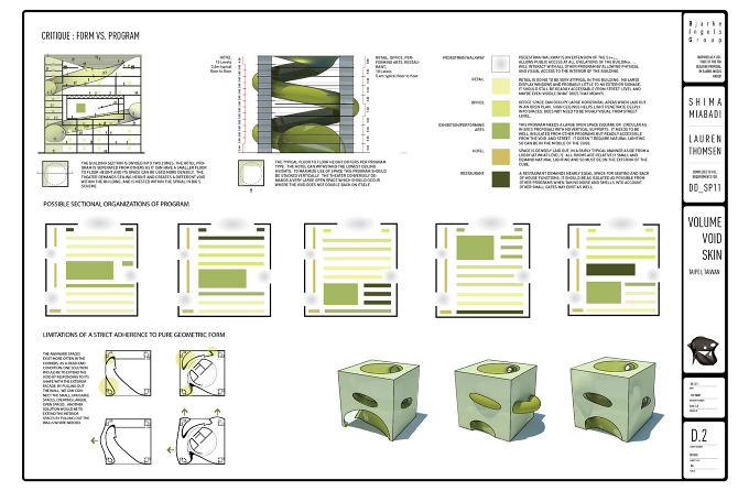 Volume void skin architecture design research - Architecturen volumes ...
