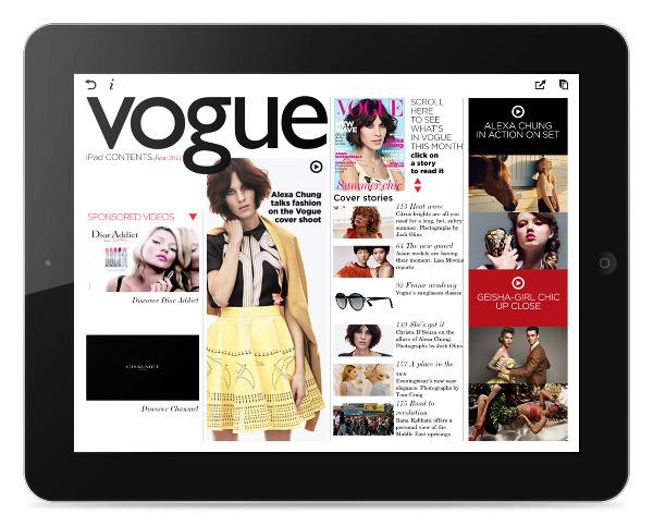 vogue ipad app spring creative